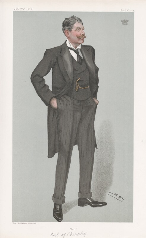 A portrait of England captain Ivo Bligh, the man who successfully reclaimed the Ashes on England's 1882 tour of Australia.