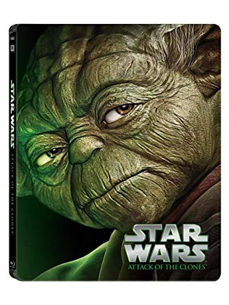 Star Wars: Episode II: Attack of the Clones Blu-ray cover.