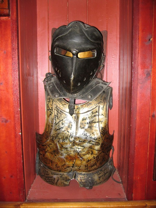 Armor from Excalibur autographed and on display in a Cahir, Ireland pub.