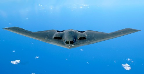 Northrop Grumman designed the B-2 Stealth Bomber which entered service with the United States Air Force in December 1993. Its design was a copy of the Horten brothers plane which was built in Nazi German during the Second World War.