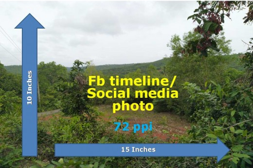 Presentation slides and many social media pictures are like this