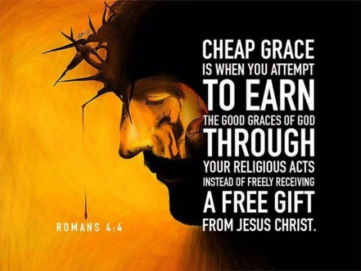 Grace may be free, but it came to us at the ultimate price … the cross!