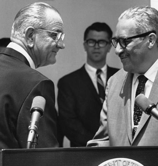 Marshall and President Johnson