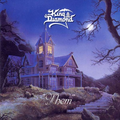 The album's cover has what looks like an old and haunted house. This house is one of the main things in the fictional story told in the album Them.