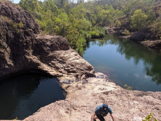 Climbing, Secret Falls, Lichfield National Park, NT, Australia