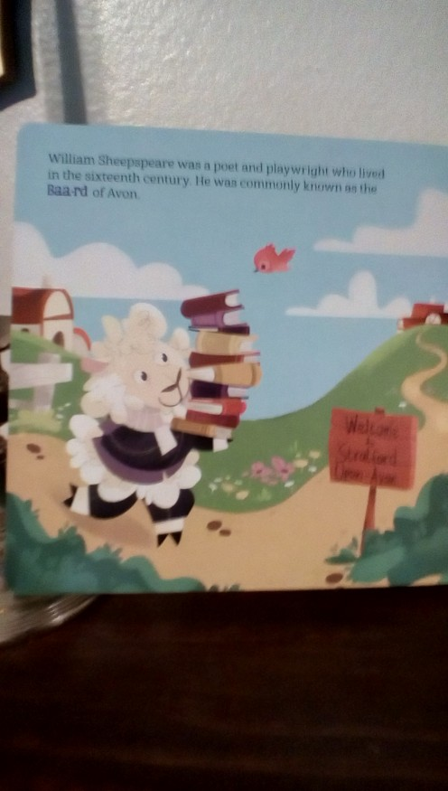 Shakespeare in a sheep character