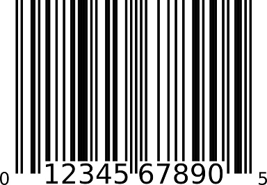 Most products have a Universal Product Code (UPC) barcode.