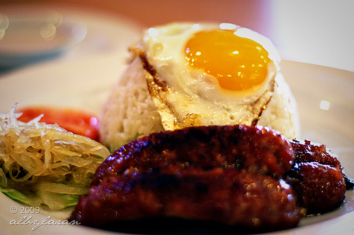 Longsilog (longganisa, sinangag, and egg)