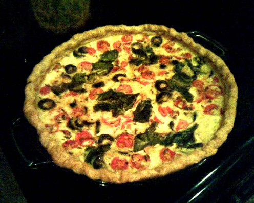 A freshly baked tomato and basil quiche. Photo: E. A. Wright