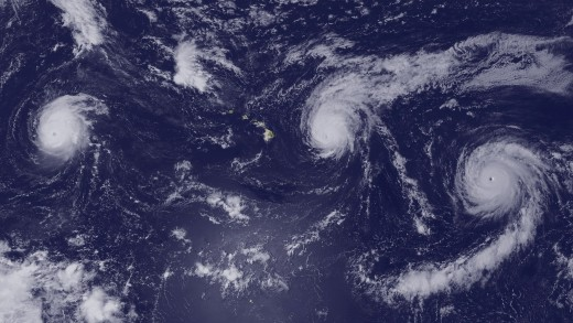 Aerial view of hurricanes