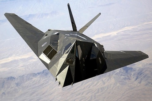 The F-117 Nighthawk attacked Bagdad in the no moon period just like the Zeppelins sixty-five years later during Operation Storm in 1990. The F-117 utilized stealth technology and was unseen by Iraqi anti-aircraft radar guided weapons.