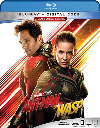 Ant-Man and the Wasp Blu-ray cover.