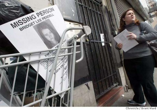 Bridget Pendell vanished April 2003 and despite hundreds of leads she has never been seen again. Photo courtesy of SF Gate/Flier courtesy Kym Pasqualini - National Center for Missing Adults.