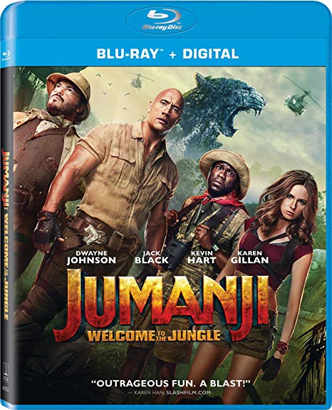 Jumanji Welcome to the Jungle Blu-ray cover.