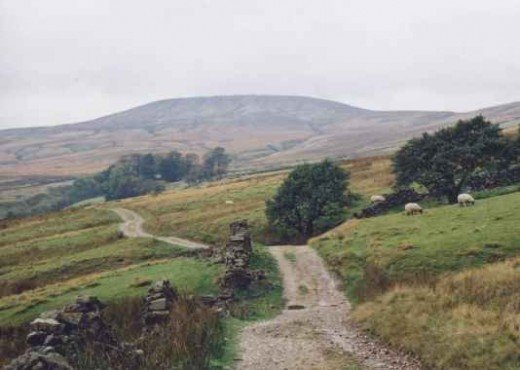 Little Whernside not far to the north-west of Lofthouse in upper Upper Nidderdale. Ideal countryside to follow winding roads that seem to go on forever