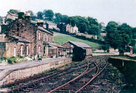 Pateley Bridge Station, opened by the North Eastern Railway to traffic in 1862, to close in 1951 after only 89 years of service to the community - the Nidd Valley Light Railway narrow gauge line went on from here up the dale (behind the photographer)