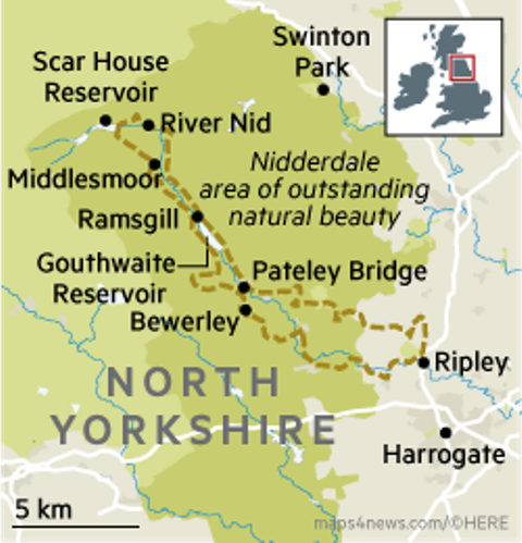 Upper Nidderdale in relation to the rest of the Dales region of Yorkshire, and where it fits into the 'jigsaw' of England