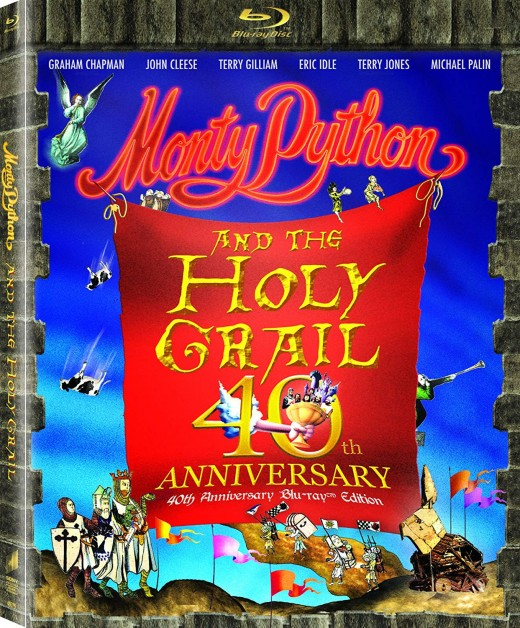 Monty Python and the Holy Grail 40th Anniversary Blu-ray cover.