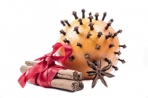 Not just for Christmas-  Give each child a large orange and a piece of ribbon. Get them to press a number of whole cloves into the orange. Pin a length of colourful ribbon into the top to hang it on.