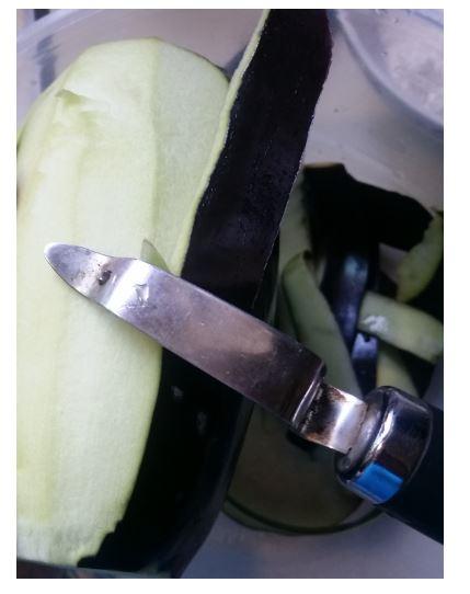 Peel with potato peeler