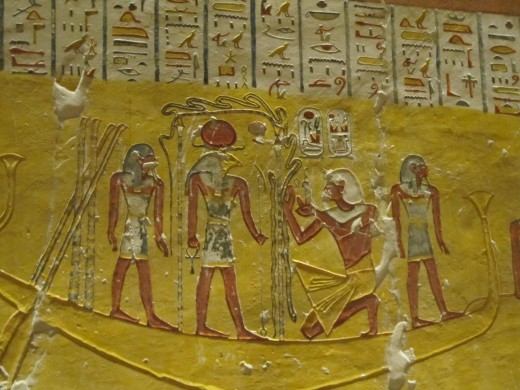 Hieroglyphics from inside a tomb in the Valley of the Kings