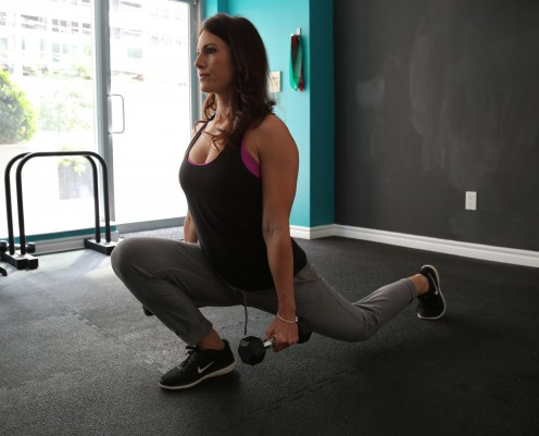 Lunges (walking or stationary)
