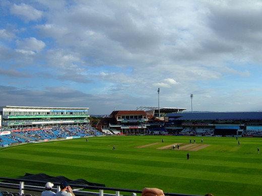 Headingley Cricket Ground in Leeds, Yorkshire. The venue of the 3rd Ashes Test of 2019.