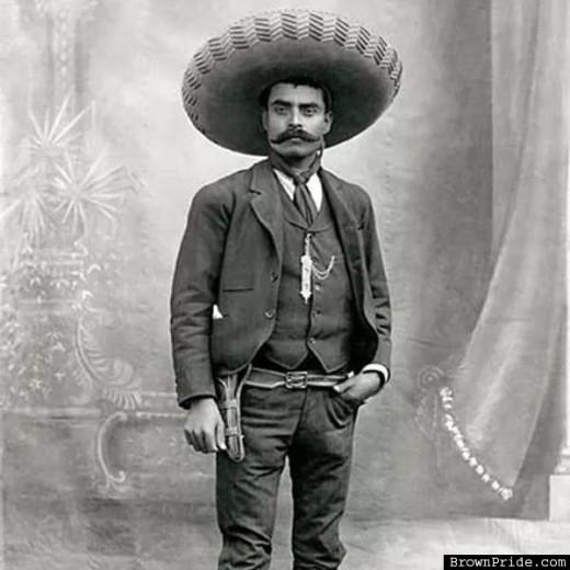 Mexican Guerrilla Leader Emiliano Zapata