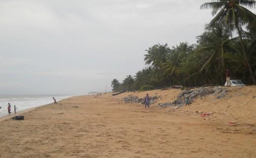 Kumbla beach by the Arabian Sea Coast of South India