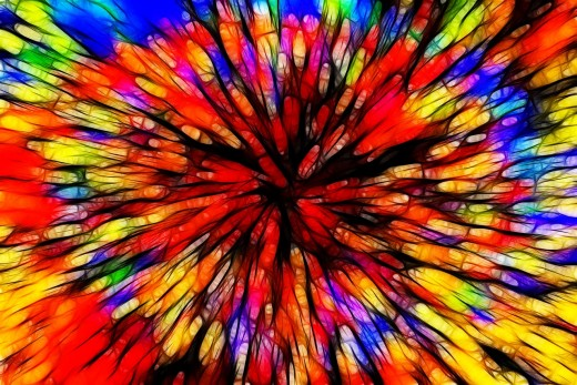 Color Batik Explosion Colorful Substances Friendly