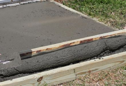 Example of a screed