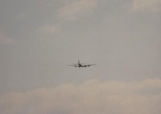 B-17 in Flight, Andrews AFB, May 1990