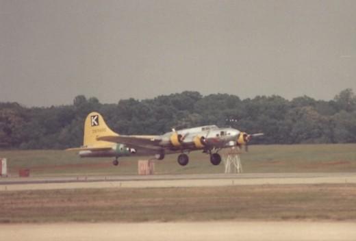 B-17 landing at Andrews ADB.