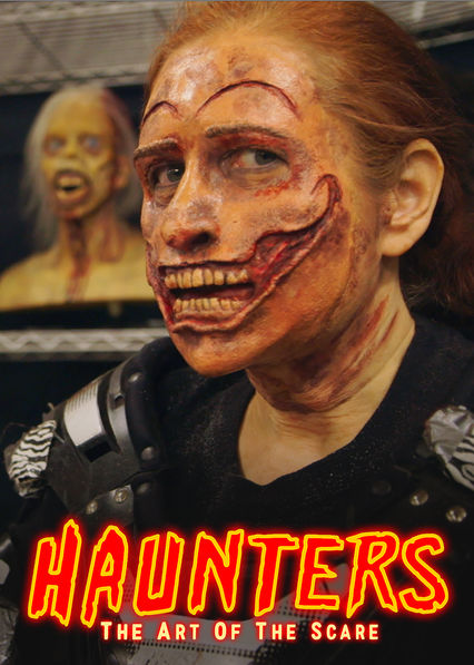 Scare actor Shar Mayer in full makeup can't wait to entertain you this evening.