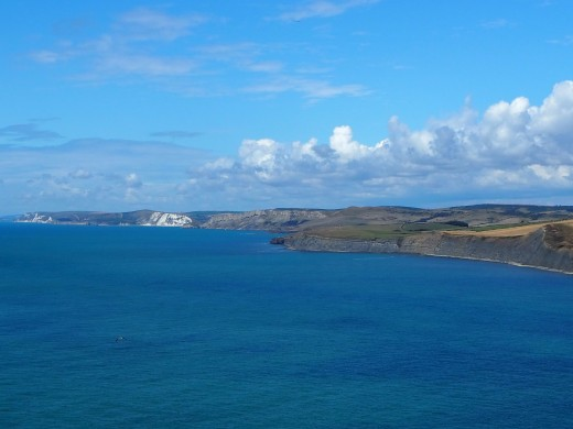 West from St Aldhelm's Head