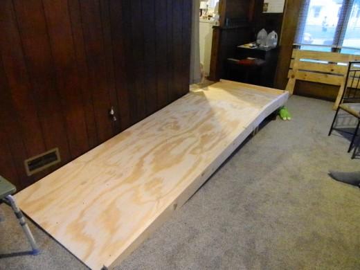 The ramp I built inside