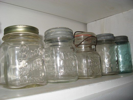 It can be a vintage canning jar of any size or a decorative jar. I like a clear jar so you can see the coins inside as they gradually increase over the months.