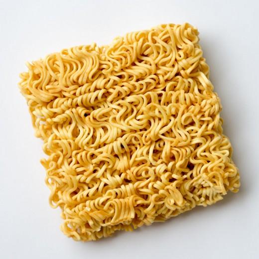 uncooked Ramen noodles
