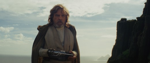 Courtesy of Lucasfilm.  The Last Jedi's portrayal of Luke Skywalker is a stark contrast to his younger self from Return of the Jedi, and is foreseen in the opening sequence of the film where he tosses the lightsaber away.