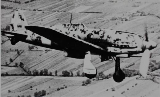 A C-202 in flight.
