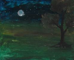 A Lucky Sky Watcher on the Harvest Moon Day