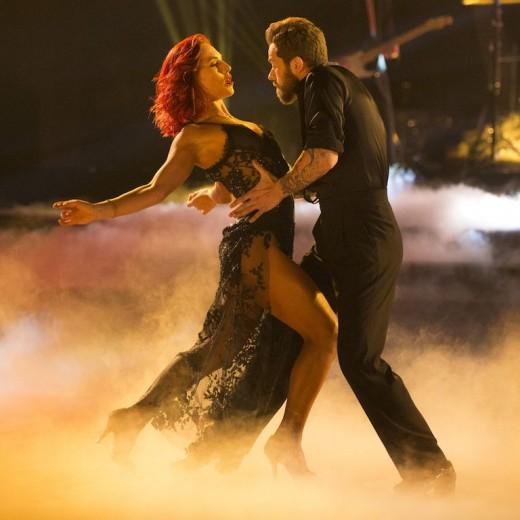 Sharna and Artem dance together