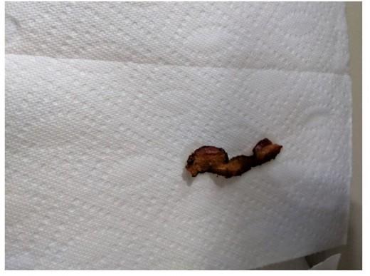 drain on paper towel