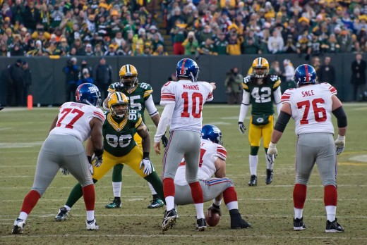 Eli Manning and the Giants in the NFC Divisional Playoff Game February 2012