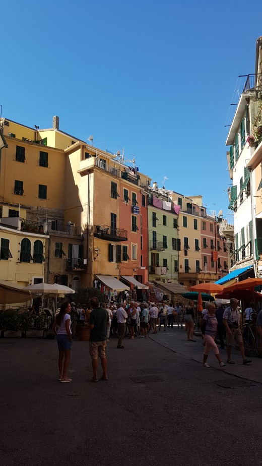 Restaurants, Shops in  the Mainstreet of Vernazza