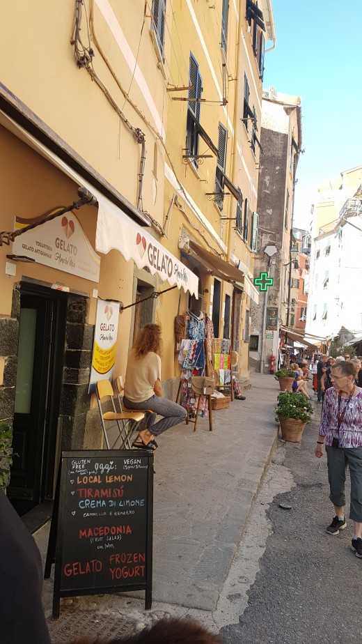 Shops in the Mainstreet of Vernazza