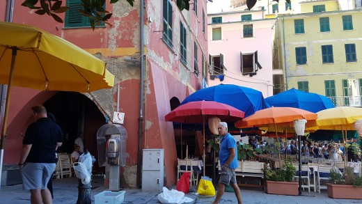 Restaurant in The Piazza  of Vernazza
