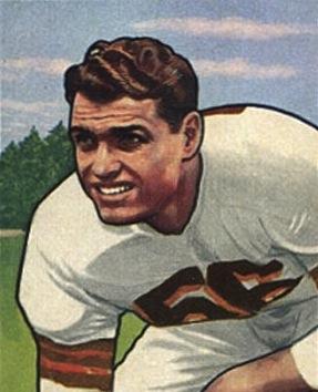 Dante Lavelli's 1950s player card.