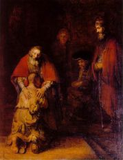 The Return of the Prodigal Son;  By Rembrandt