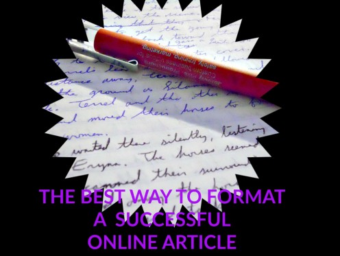 The Best Way to Format a Successful Online Article
